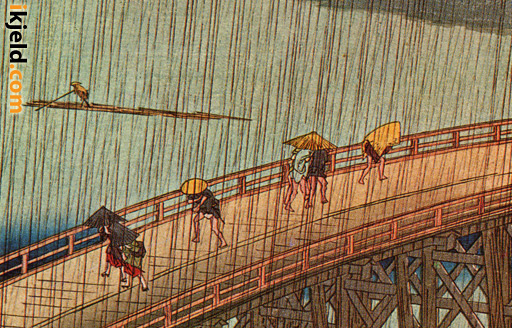 Hiroshige - Bridge in Rain